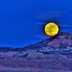 Moon over Pyramid Rock, near Gallup, NM. (http://www.flickr.com/photos/cazen/)