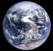 A famous photo of Earth from Apollo 17 (Blue Marble) originally had the south pole at the top; however, it was turned upside-down to fit the traditional perspective. (Source:Wikipedia)