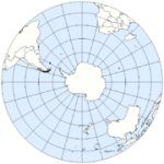 Southern hemisphere from above the South Pole. (Source:Wikipedia)