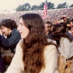 Waiting for Santana and surprise guest, Bob Dylan, circa 1973