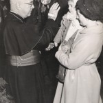 With my mom and Cardinal Spellman, I think