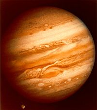 Voyager 1 took this photo of the planet Jupiter on January 24, 1979 while still more than 25 million mi (40 million km) away.