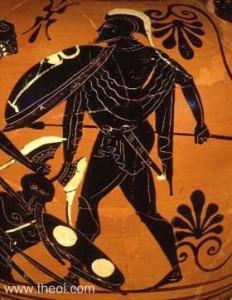 Ares, Athenian black-figure amphora C6th B.C., Worcester Art Museum