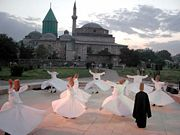 Rumi's tomb (Mevlana Museum). Konya, Turkey. (Source:Wikipedia)
