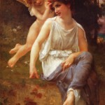 Venus and Cupid; Guillaume Seignac