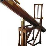 Replica of the telescope with which Herschel discovered Uranus in the William Herschel Museum, Bath. (Source:Wikipedia)