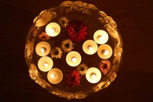 Floating candles on Diwali day. (Source:Wikipedia)