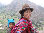 Peruvian woman and child (Source:Wikipedia)