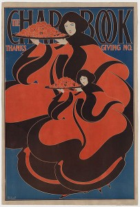 Art nouveau illustration showing two women holding trays of food.(Source:Wikipedia)
