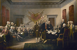 Trumbull's Declaration of Independence (Source:Wikipedia)