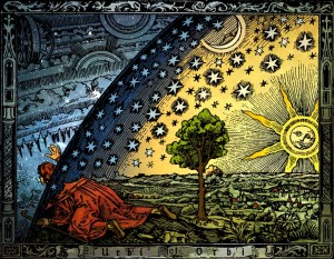 Anonymous Flammarion woodcut (1888). (Source:Wikimedia Commons)