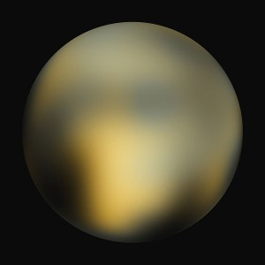 Computer-generated map of Pluto from Hubble images