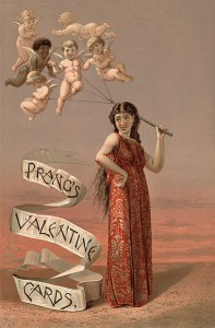 Advertisement for Prang's greeting cards, 1883. (Source:Wikimedia Commons)