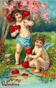 Victorian Valentine's Card (Source:Wikimedia Commons)
